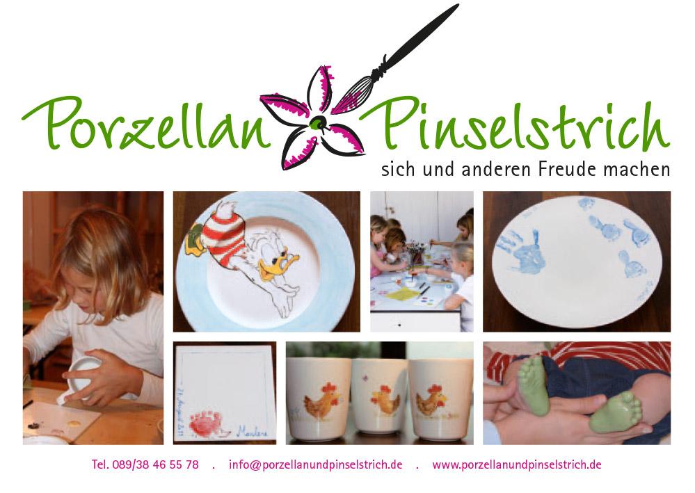 Porzellan und Pinselstrich Kontakt
