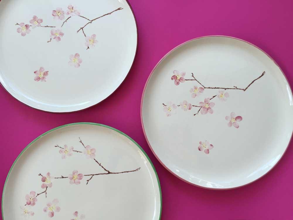 Kirschblüte - Abschiedsgeschenk Keramikmalen München Grünwald